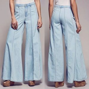 Free People Gilmore Wide Flare Leg Jeans